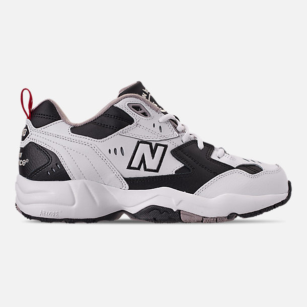 Right view of Men's New Balance 608 v1 Casual Shoes in White/Black
