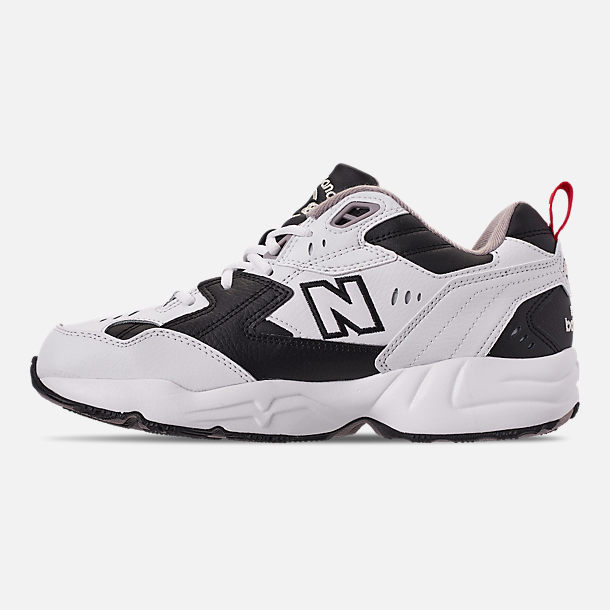 Left view of Men's New Balance 608 v1 Casual Shoes in White/Black