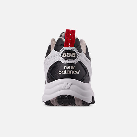 Back view of Men's New Balance 608 v1 Casual Shoes in White/Black