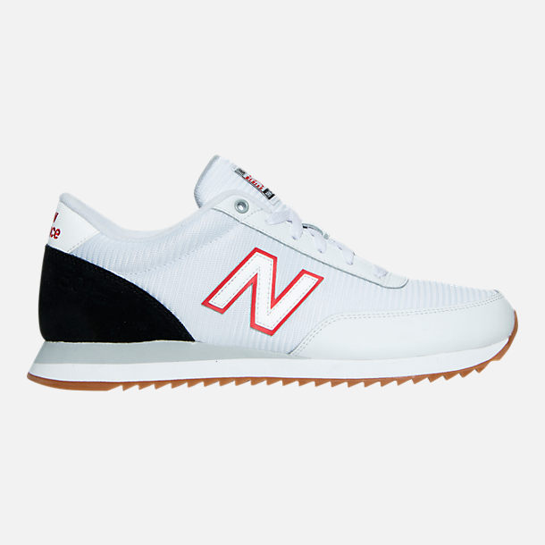 Right view of Men's New Balance 501 Gum Ripple Casual Shoes in White/Black/Gum