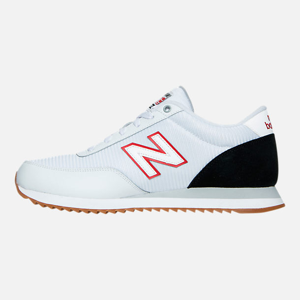 Left view of Men's New Balance 501 Gum Ripple Casual Shoes in White/Black/Gum