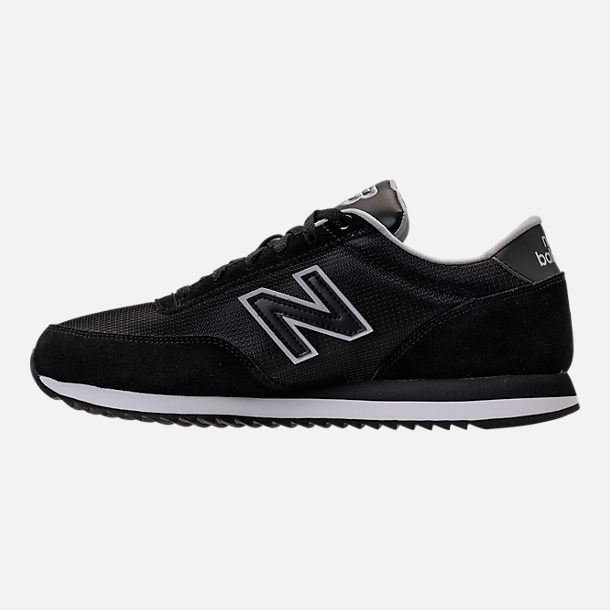 Left view of Men's New Balance 501 Casual Shoes in Black/Silver Mink