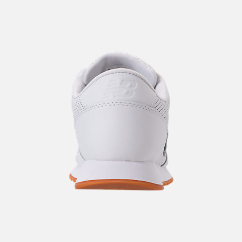 Back view of Men's New Balance 501 Leather Casual Shoes in White/Gum
