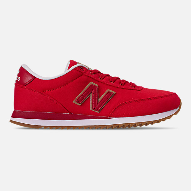 0e3971435c7f7 Right view of Men's New Balance 501 Ripple Sole Casual Running Shoes in  Red/Red