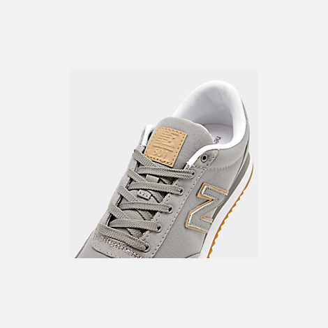 Front view of Men's New Balance 501 Canvas Gum Casual Shoes in Grey/White
