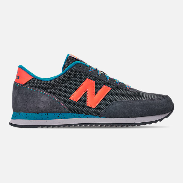 sports shoes 181f1 37eb5 Right view of Men s New Balance 501 Casual Shoes in Grey Orange
