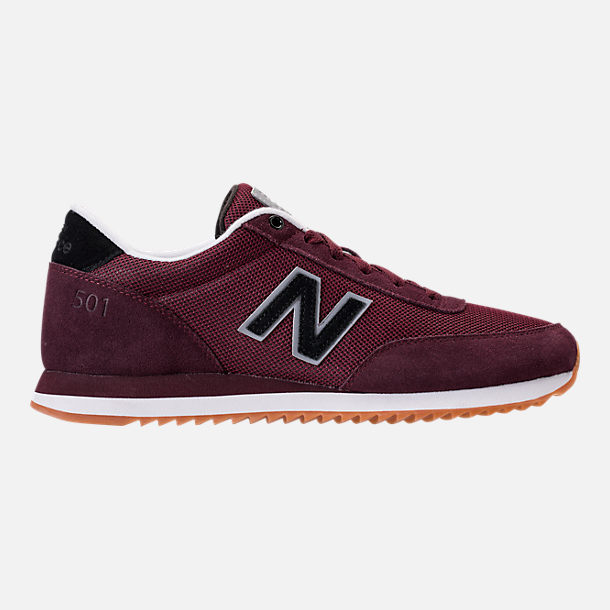 Right view of Men's New Balance 501 Casual Shoes in Chocolate Cherry