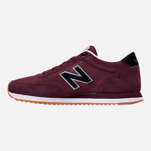 Left view of Men's New Balance 501 Casual Shoes in Chocolate Cherry