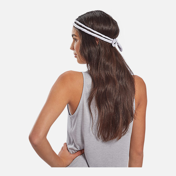 Alternate view of Nike Dri-FIT Bandana Head Tie in Black/White