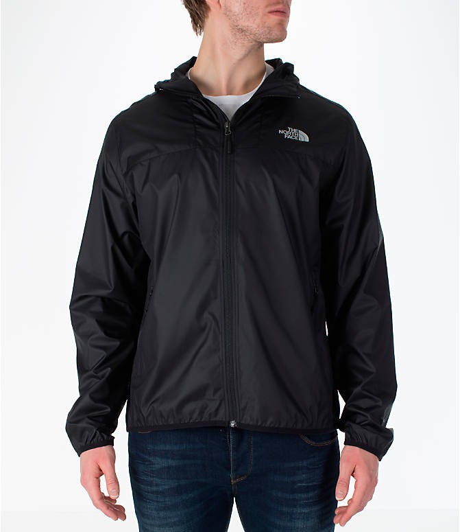 Front view of Men's The North Face Cyclone Wind Jacket in Black