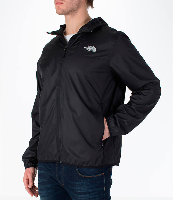 Front Three Quarter view of Men's The North Face Cyclone Wind Jacket in Black