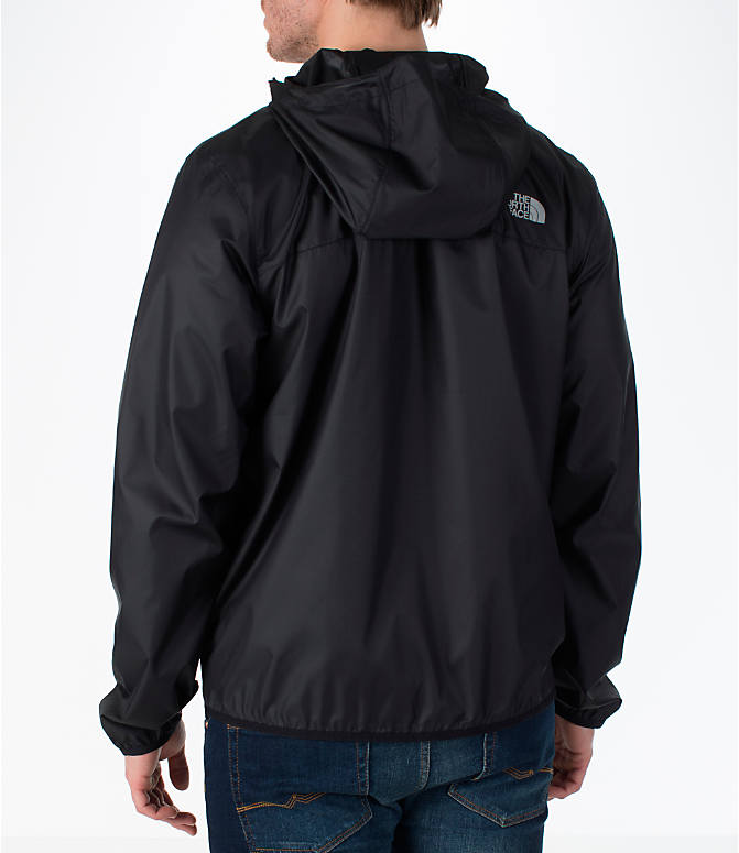 Back Left view of Men's The North Face Cyclone Wind Jacket in Black
