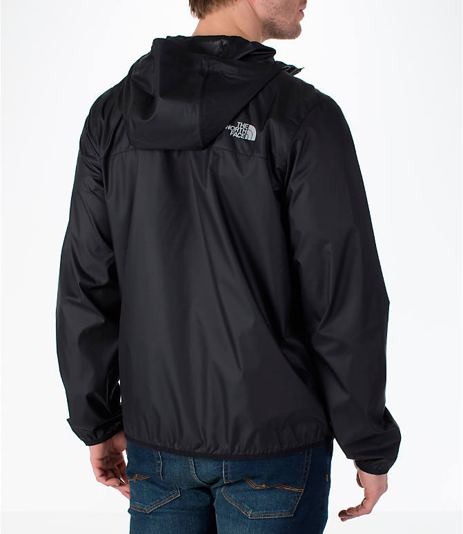 Back Right view of Men's The North Face Cyclone Wind Jacket in Black