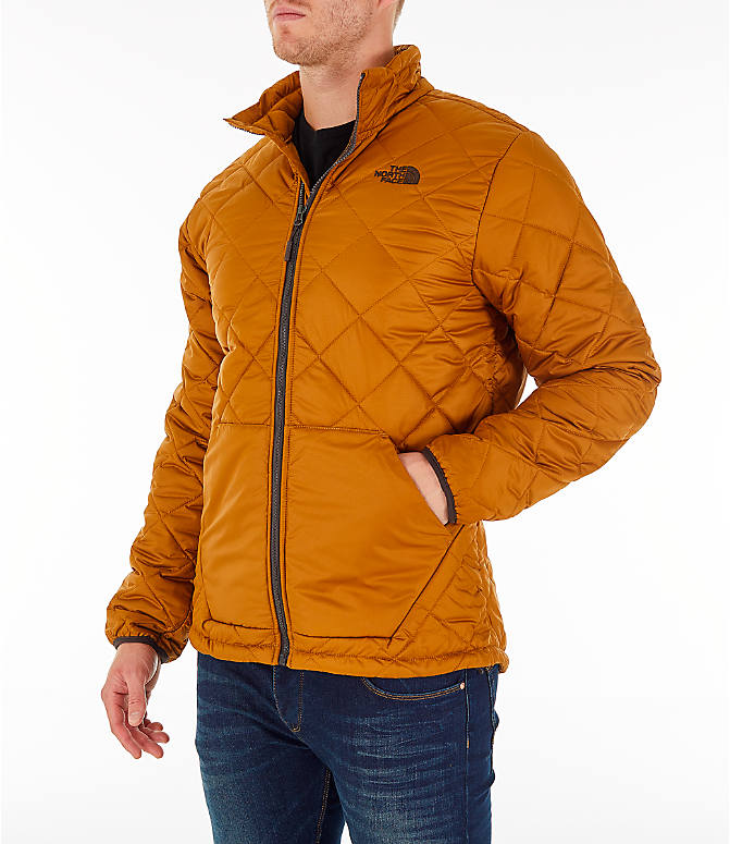 Front Three Quarter view of Men's The North Face Cervas Jacket in Golden Brown