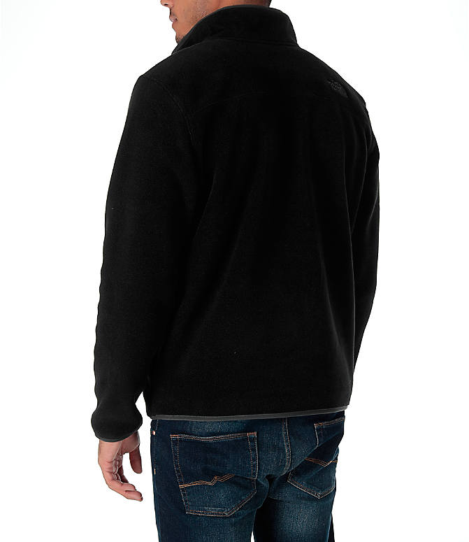 Back Left view of Men's The North Face Tolmiepeak Half-Zip Pullover in TNF Black