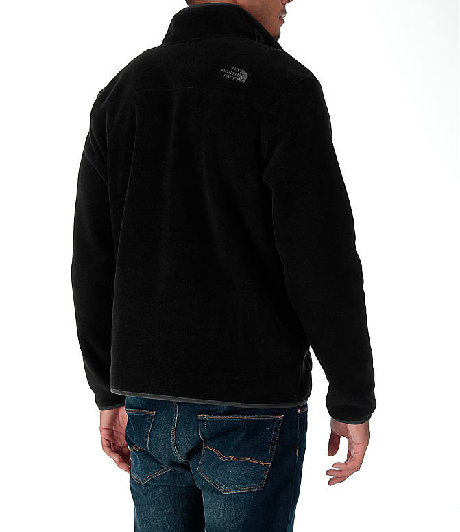 Back Right view of Men's The North Face Tolmiepeak Half-Zip Pullover in TNF Black