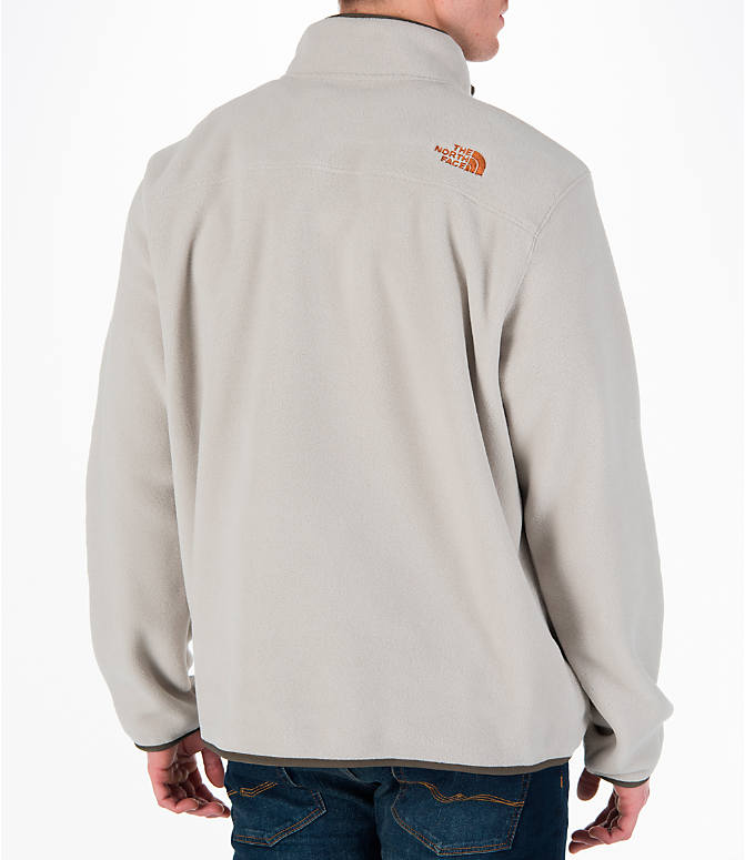 Back Right view of Men's The North Face Tolmiepeak Half-Zip Pullover in Granite Bluff Tan