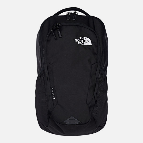 Front view of The North Face Vault Backpack in TNF Black