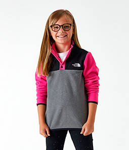 Girls' The North Face Glacier Half-Snap Sweatshirt