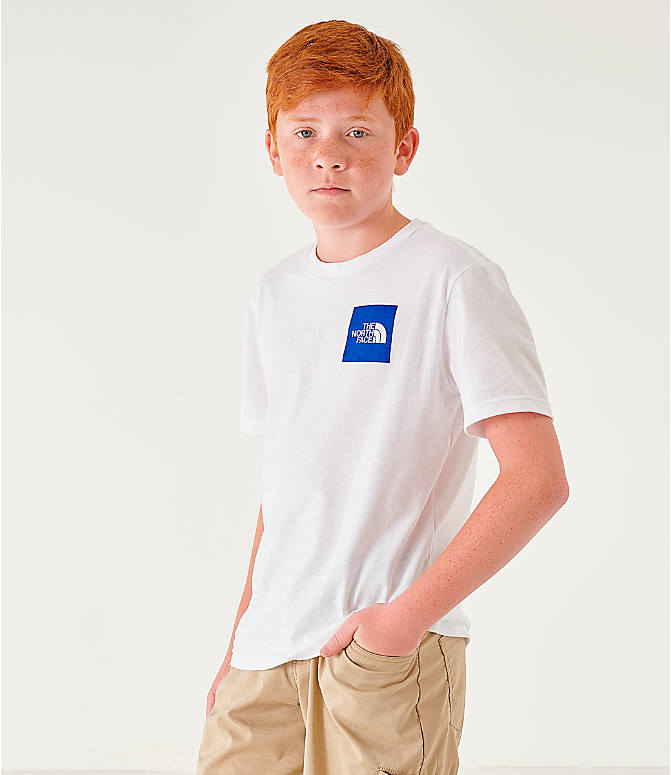 Front view of Boys' The North Face Outline Logo T-Shirt