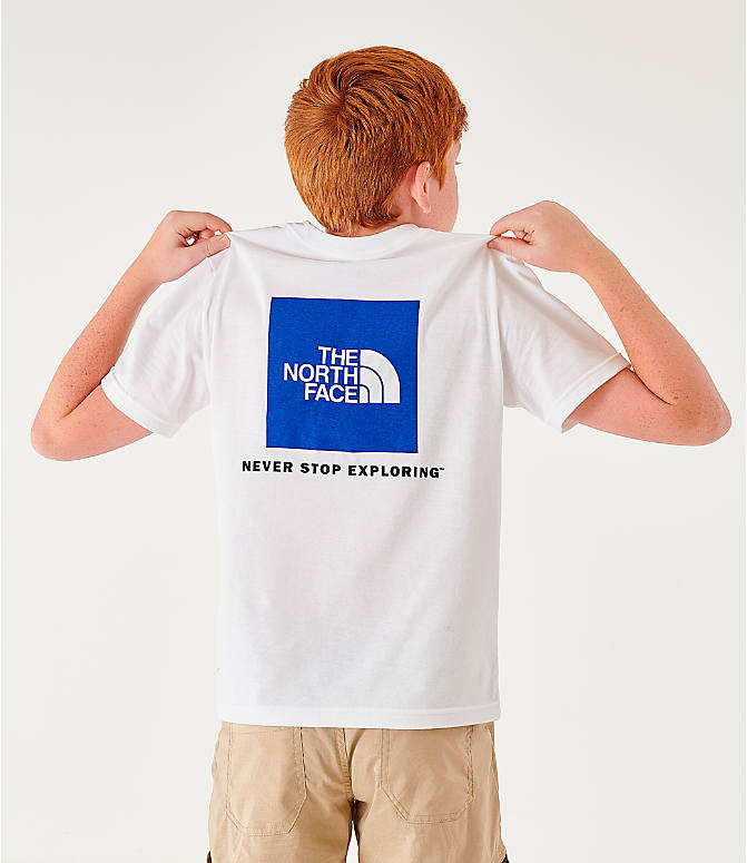 Back Left view of Boys' The North Face Outline Logo T-Shirt