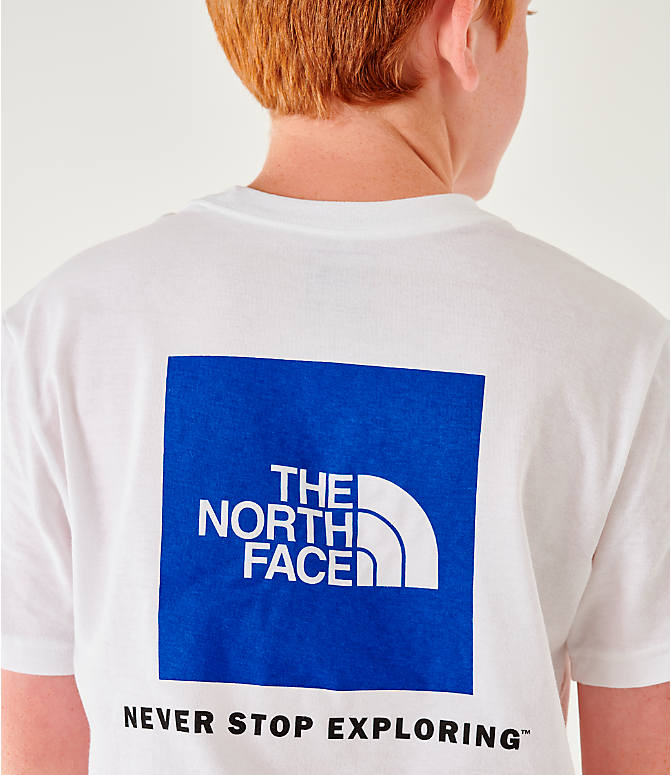 Back Right view of Boys' The North Face Outline Logo T-Shirt