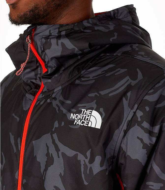 Detail 1 view of Men's The North Face Train N Logo Full-Zip Hoodie in Orange/Black
