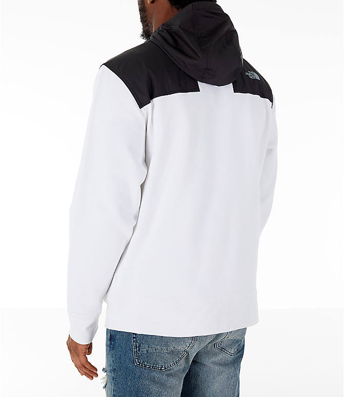 Back Left view of Men's The North Face Train N Logo Overlay Jacket