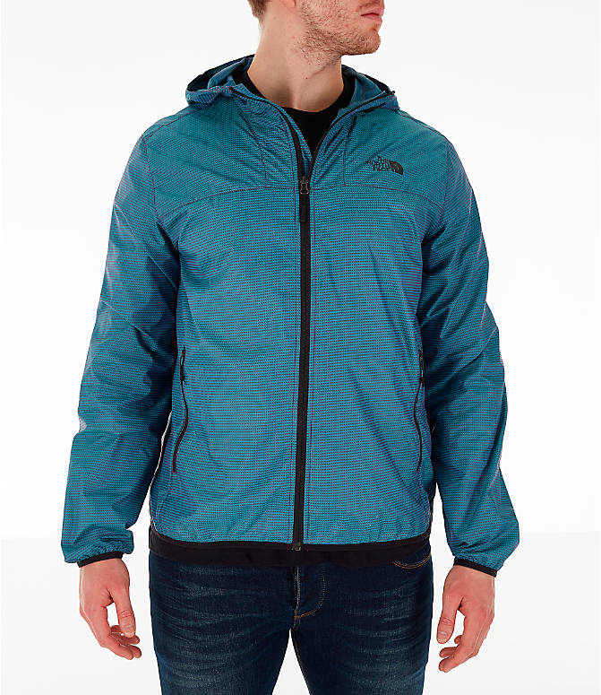 Front view of Men's The North Face Novelty Cyclone Hooded Jacket in Iridescent