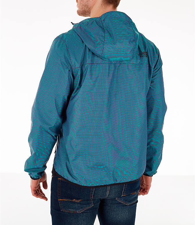 Back Left view of Men's The North Face Novelty Cyclone Hooded Jacket in Iridescent