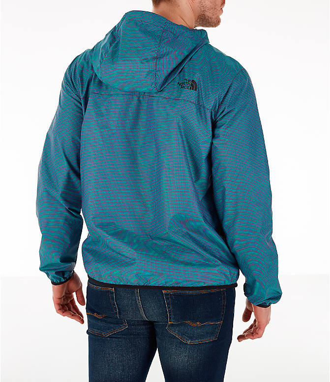 Back Right view of Men's The North Face Novelty Cyclone Hooded Jacket in Iridescent