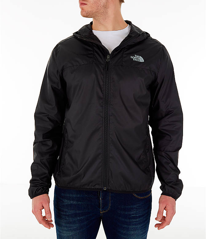 Front view of Men's The North Face Novelty Cyclone Hooded Jacket in Black