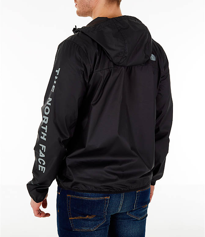 Back Left view of Men's The North Face Novelty Cyclone Hooded Jacket in Black