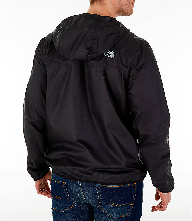 Back Right view of Men's The North Face Novelty Cyclone Hooded Jacket in Black