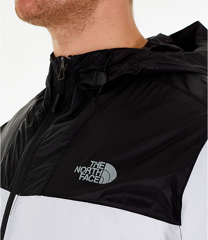 Detail 2 view of Men's The North Face Novelty Cyclone Hooded Jacket in White/Black