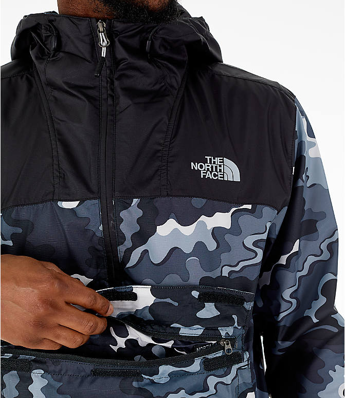 Detail 1 view of Men's The North Face Novelty Fanorak Half-Zip Jacket in Black Print