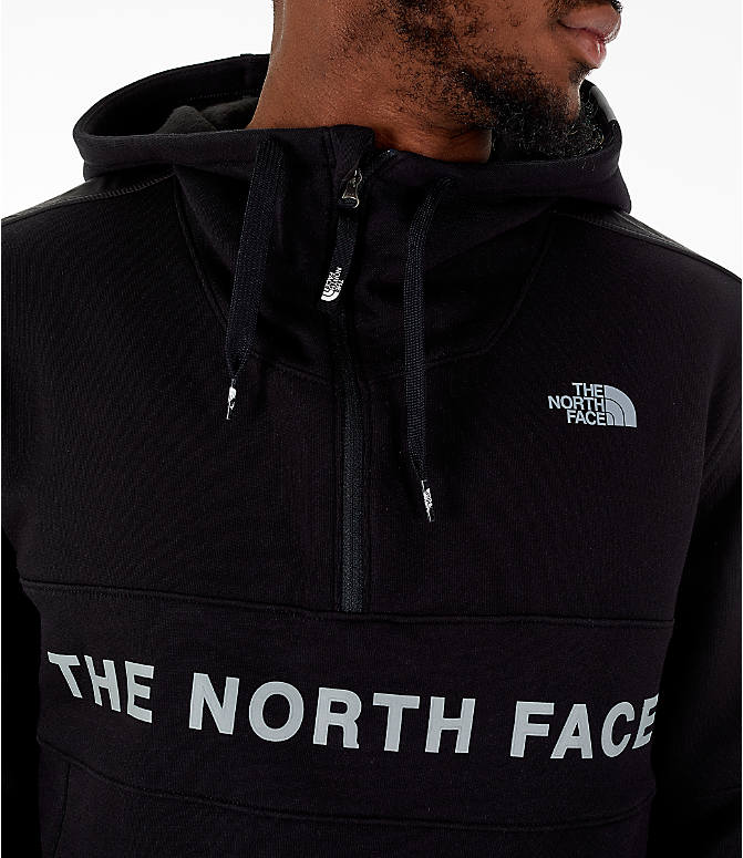Detail 1 view of Men's The North Face Train N Logo Half-Zip Hoodie in Black