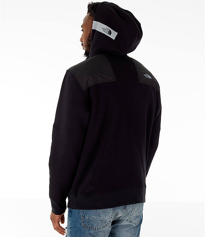 Back Left view of Men's The North Face Train N Logo Half-Zip Hoodie in Black
