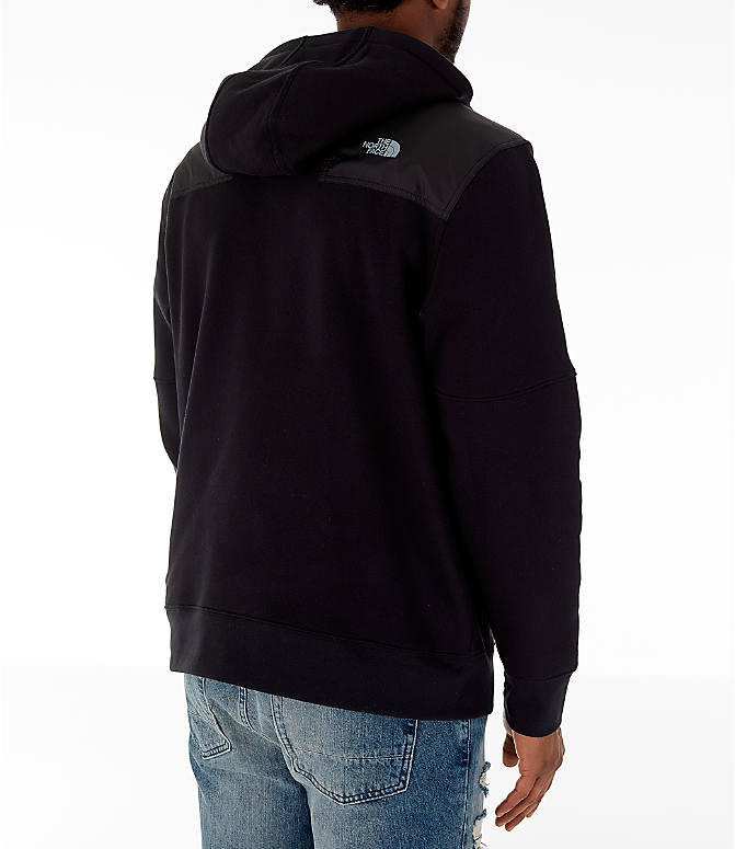 Back Right view of Men's The North Face Train N Logo Half-Zip Hoodie in Black