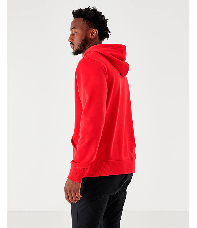 Back Left view of Men's The North Face Never Stop Hoodie in Red