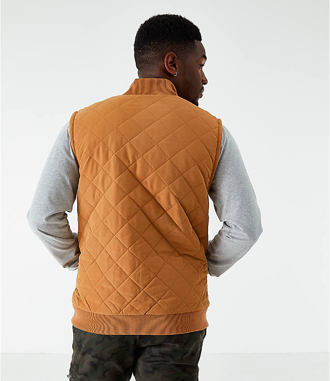Back Left view of Men's The North Face Cuchillo Insulated Vest in Cedar Brown