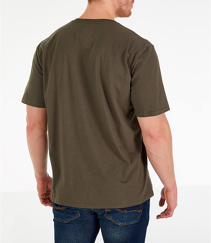 Back Right view of Men s The North Face Simple Dome T-Shirt in New Taupe 43273d1d3