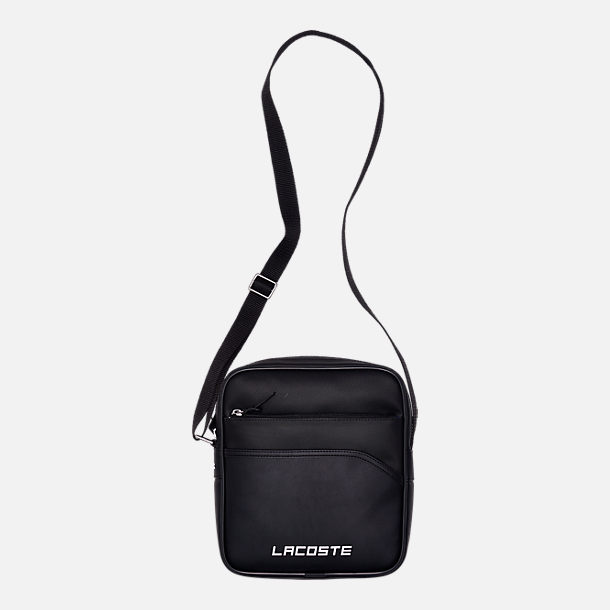 9463b15b50 Front view of Lacoste SPORT Ultimum Lettering Zip Crossover Bag in Black