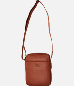 Lacoste Business Vertical Leather Shoulder Bag