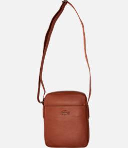Lacoste Business Vertical Leather Shoulder Bag