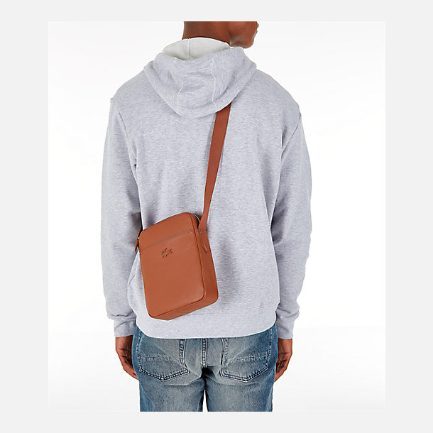 Alternate view of Lacoste Business Vertical Leather Shoulder Bag in Bison