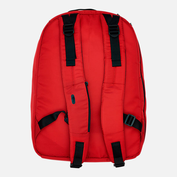 Back view of Lacoste Croc Outline Backpack in Red