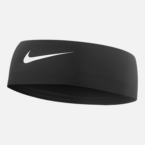 Front view of Nike Fury 2.0 Athletic Headband in Black