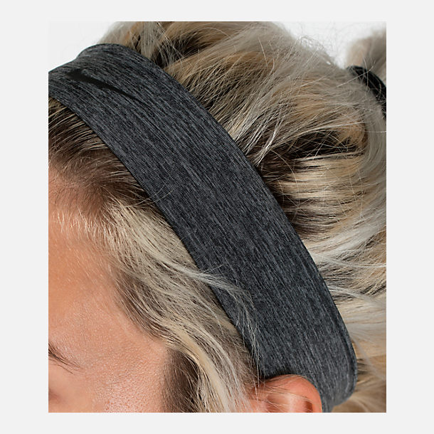 Alternate view of Nike Dry Sport Training Headband in Charcoal Heather/Black