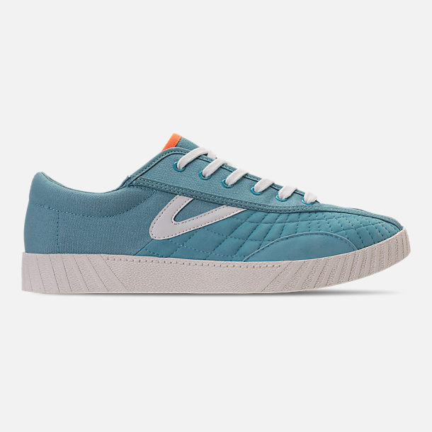 Right view of Men's Tretorn Nylite XAB2 Casual Shoes in Blue/White/Neon Orange